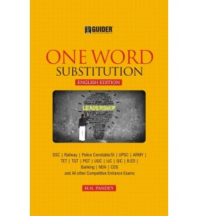 One Word Substitution English Edition