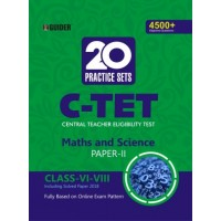 C-TET 20 Practice Sets Class VI-VIII Paper II Maths and Science English