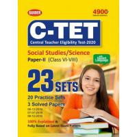 C-TET Social Studies/Science Paper II Class VI-VIII 23 Sets 2020   English