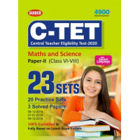 C-TET Maths and Science Paper II Class VI to VIII 23 Sets 2020   English
